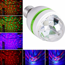 E27 3W Auto Rotating RGB LED Bulb Stage Light Colorful Party Lamp Disco for home decoration lighting lamps Holiday Dance bulb