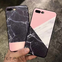 Fashion Marble Lines Geometric Mosaic Case For iPhone 7 6 6S Plus Marble Stone Silicone soft Phone Cover Back for iPhone 6s 7