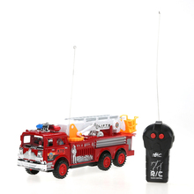 educational toys children simulation electric fire engine fire ladder truck model toy