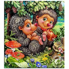 5D Diamond Mosaic Diy Diamond Painting Cross Stitch Cartoon Hedgehogs Diamond Embroidery Patterns Rhinestone Adornment Picture