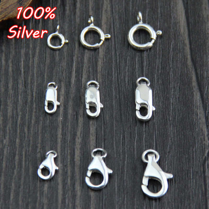 4Pcs 925 Sterling Silver Trigger Lobster Clasp Catch for Bracelet Necklace