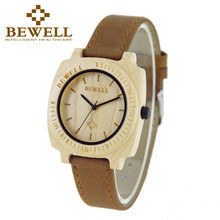 BEWELL Brand Wood Men's Watch Casual Quartz Wrist Watches Unique Minimalist Relogios Masculino Male Clock Dropship suppliers 098(China)