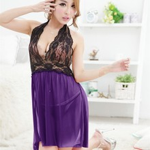 Women's Sexy Lingerie Underwear Nightwear Babydoll Sleepwear Dress+G-string Hot