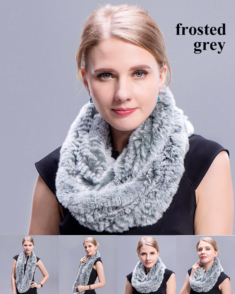 rex rabbit ring scarf frosted grey 3