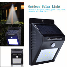 Waterproof LED Solar Light Outdoor Solar Wall Light Lamp lighting with Sensor for Garden Yard Deck Path Street Solar Lamp 20LED(China)