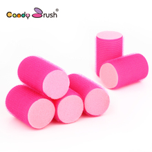 6 pcs/lot Sleep in Hair Rollers DIY Hair Styling Tools 6cm Hair Curlers Sponge Rollers Foam Rollers Hairdressing Accessories(China)