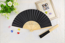 [ Fly Eagle ] Free shipping  black color wedding paper fan hand held hot selling !!!