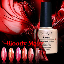 Candy Lover Nail Polish Gel Long Lasting Limited Sale LED UV Gel Lacquer 10ml Bloody Mary Series Classic Red Color Nail Gel