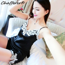 Summer Lace V-Neck Sling Dress Pajama Women Nightgown Lingerie Sexy Hot Erotic Babydoll Sleepwear 2017 Hot Selling Home Costumes(China)