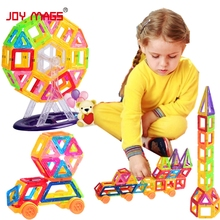 JOY MAGS 40/60 Pcs Mini Magnetic Designer Building Blocks Construction Toys DIY 3D Magnetic Educational Bricks Toy Gift(China)
