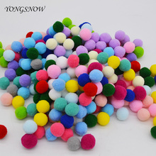 Buy 2cm Plush Pompon Fur Balls 100pcs Multicolor Home Decorative Flower DIY Crafts Toy Accessories Phone Shoes Garment Accessories for $1.28 in AliExpress store