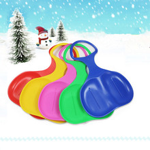 New Hot Sale 1pc Kids/Adult Thicken Children Plastic 5 Colors Skiing Boards Snow Sledge Ski Pad Sled For Winter Sports(China)