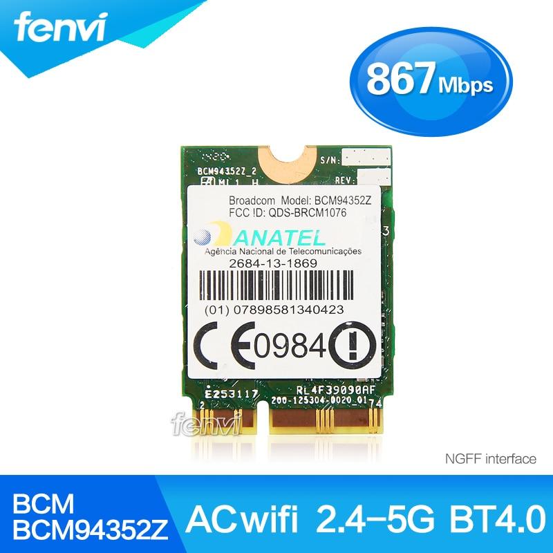 Broadcom BCM94352Z Wireless-AC NGFF Dual band 802.11ac 867Mbps WIFI Bluetooth BT 4.0 Card For IBM/Lenovo/Thinkpad<br><br>Aliexpress