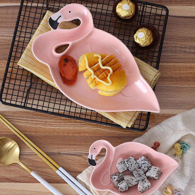 3D-Flamingo-Plate-Pink-Bird-Creative-Ceramic-Dishes-Snacks-Dried-Fruit-Plate-Dessert-Plate-DIY-Birthday (5)