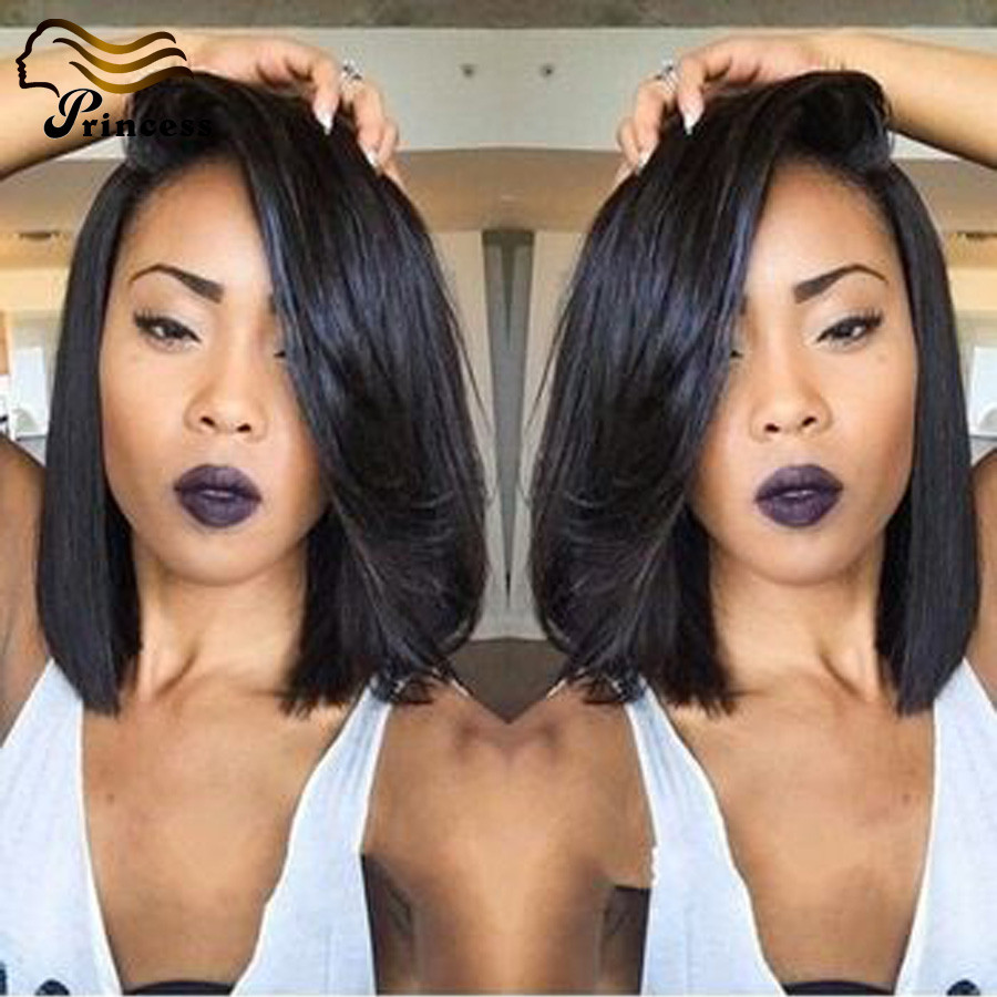 Short Glueless Full Lace Human Hair Bob Wigs Lace Front Wigs Brazilian Virgin Hair Bob Wig Human Hair Short Wigs With Baby Hair<br><br>Aliexpress