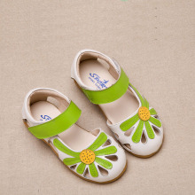 Summer new princess flower sandals children's leather shoes girls flat comfortable shoes kids high quality sport casual sandals
