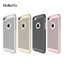 Shockproof Vent Net Heat Radiation Hard Plastic Case For Apple Iphone 7 7Plus 6 6S Plus Mobile Phone Cases