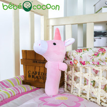 bebecocoon 2017 New Baby Unicorn Rattle Stuffed Toys Infant Hand Puppet Enlightenment Cute Animal Plush Doll Design Gifts Set(China)