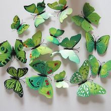 3D Butterfly Sticker Art Design Decal Wall Stickers  Accessories Gadgets Wall Decoration Home Decor