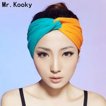 Mr.Kooky Cute Women Lady Cotton Turban Twist Knot Headbands Girls Gifts Sport Headwear Headbands Head Wrap Hair Accessories