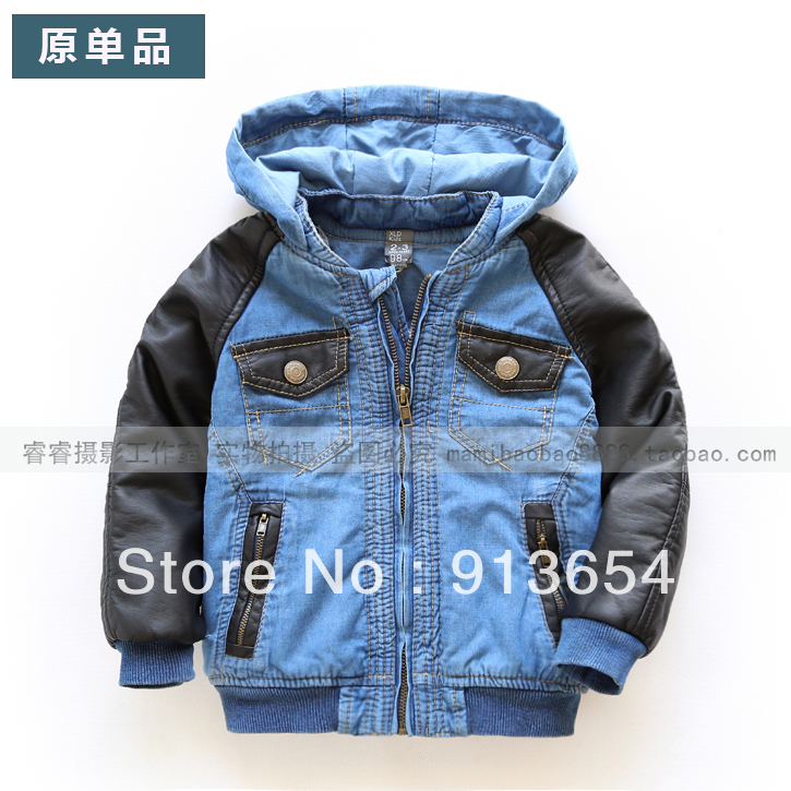 Free shipping new 2016 spring autumn baby clothing children hoodies denim jacket casual baby outerwear baby boy denim coat<br>