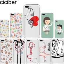 ciciber Doctor Drug Capsule Design Soft Silicone Phone Cases Cover for Iphone 6 6S 7 8 Plus 5S SE X Coque Fundas Capinha Capa(China)