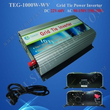 1000w grid tie inverter for solar panel system,DC 24v 36v 48v ( 22v-60v ) to AC 100v 110v 120v MPPT Inverter 1kw