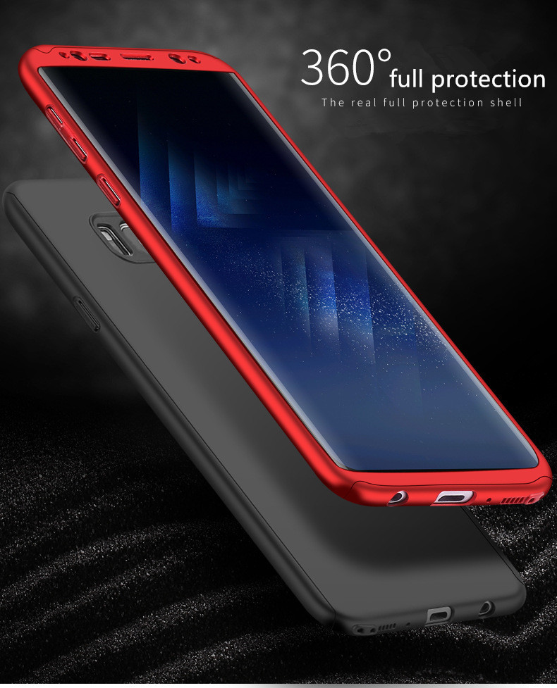 360 Degree Hard PC Phone Case For Samsung Galaxy Note 9 8 S9 S8 S7 S6 Armor Coque Full Protection Cover For Samsung s9 Plus Case