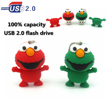 cartoon Sesame Street frog USB flash drive 32gb 16GB 8GB 4GB USB 2.0 Flash pen U Disk Pen drive lovely elmo Memory Stick Gift