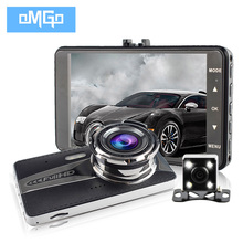 4.0 inch dual lens car camera auto dvr camcorder cars dvrs carcam dash cam Full HD 1080P parking recorder video registrator