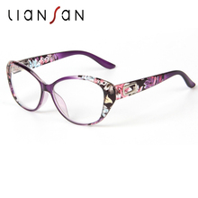 LianSan Vintage Reading Glasses Women Men Retro Luxury Brand Designer Plastic Eyewear Hyperopia Presbyopia Fashion L3707(China)