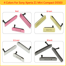 For Sony Xperia Compact Z1 Mini D5503 USB Charging Port Dust Plug Cover+Micro SD Port+SIM Card Port Slot Cover Free Shipping