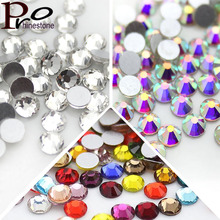 SS6 1440pcs/pack Nail Art Rhinestones Non Hot Fix/Glue On Nails Crystal Flatback Stone DIY decoration 30 colors for choose(China)