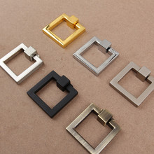 10PCS/LOT Square Zinc Kitchen Cupboard Furniture Cabinet Pull Ring Handle Handles Pulls  Knob Knobs