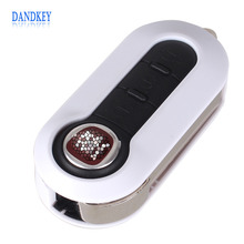 Dandkey 5X With LOGO 3 Buttons Flip folding Remote Key Case Shell Cover For FIAT 500 Panda Punto Bravo Car Alarm Keyless