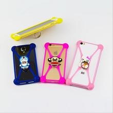 "universal 3.5-6"" carton silicone phone cover stand cases for iphone 5s 6s 7 7plus sumsung S6 S7 edge xiaomi oneplus sumsung htc"