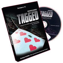Tagged by Richard Sanders WITH DVD AND GIMMICK sheets close-up cards magic tricks(China)