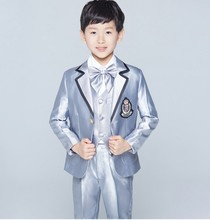 New Style Boy Tuxedos Notch Lapel Children Suit Two Buttons Kid Wedding/Prom Suits (Jacket+Vest+Pants+Tie +Shirt) NH20
