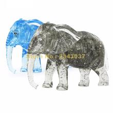 Elephant Puzzle 3d Crystal Puzzles Animal Assembled Model Diy Birthday Gift Toys For Kids(China)