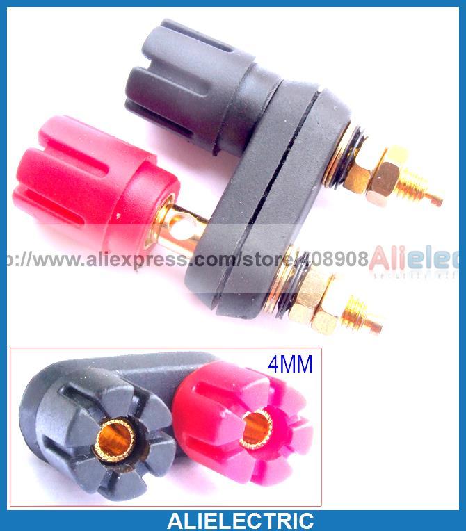 6pcs Gold Double Speaker Binding Post for 4mm Banana Plug Power Amplifier<br><br>Aliexpress