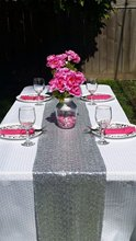Most Cheap!!! Silver/Gold Sequin Table Runner For Wedding/Event/Party/Banquet/Christmas Wedding Table Decoraiton (30cm by 180cm)(China)