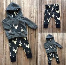 17 Colors Ins Baby Sets Kids Clothes Long Sleeve Hoddies+Pants 2Pcs Stripe Floral Fashion Clothing Suits For Boy Girl 2DTZ9302(China)