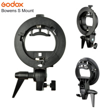 PRO Godox S-Type Bracket Bowens S Mount Holder for Speedlite Flash Snoot Softbox Beauty Dish Honeycomb free shipping