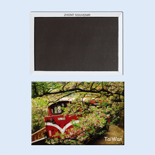 Rectangle Magnets,Taiwan,the train of Ali Mountain Tourist Refrigerator Magnets 21452
