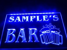 DZ028- Name Personalized Custom Home Bar Beer Mugs Cheers  LED Neon Light Sign