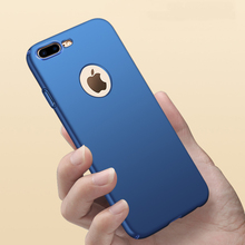 Pure Color Scrub Plastic Full Body Hard Case On For iphone 7 Plus Hard Back Hole Cover For iphone7 5 5s SE 6 6s Plus Phone Cases