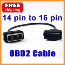 14 PIN To 16 PIN OBDII Connector OBD2 Adapter Car Accessories Diagnostic Cable for NISSAN Vehicles