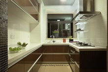 High gloss/lacquer kitchen cabinet mordern(LH-LA079)