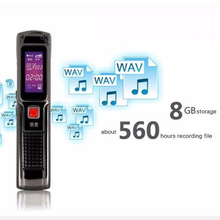 High Quality 8GB Digital Steel Stereo Voice Recorder High Smartphone Sound Recording Mini Digital Audio Recorder MP3 Player(China)