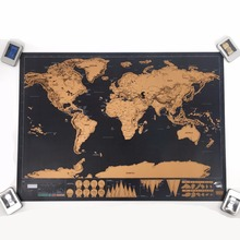 the wold map blow off map for home decoration living room for travel 82x59cm